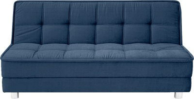 Furny Solid Wood Double Sofa Bed(Finish Color - Dark Blue Mechanism Type - Fold Out)