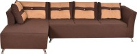 Furny Aldo Cozy Solid Wood 4 Seater Modular(Finish Color - Brown)