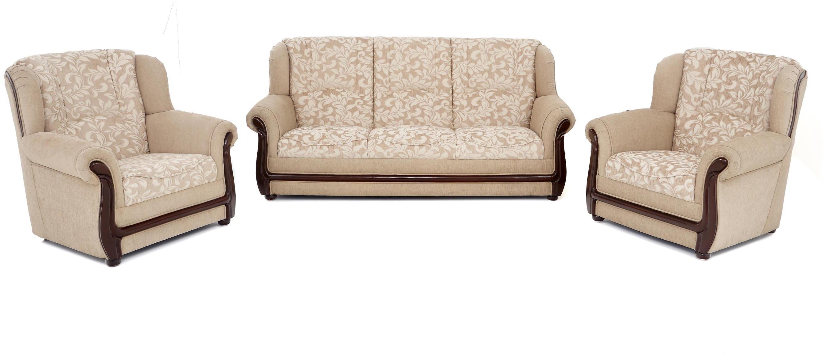 Phenomenal Furnicity Solid Wood 3 1 1 Beige Sofa Set Furniture Download Free Architecture Designs Itiscsunscenecom