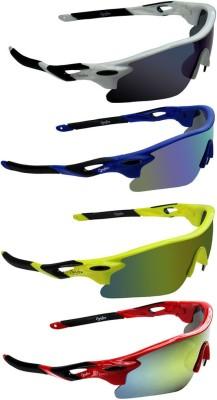Zyaden COM636 Wrap-around Sunglasses(Blue, Blue, Yellow, Yellow)