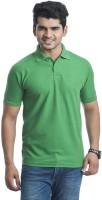 T Shirts (Men's) - Akaira Solid Men's Polo Neck Green T-Shirt