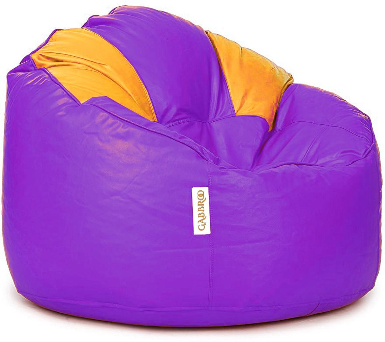 View Gabbroo XL Lounger Bean Bag Cover(Purple, Yellow) Furniture