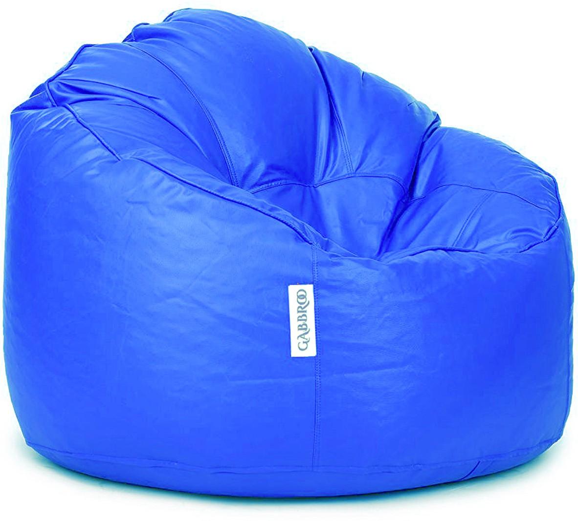 View Gabbroo XXXL Lounger Bean Bag Cover(Blue) Furniture