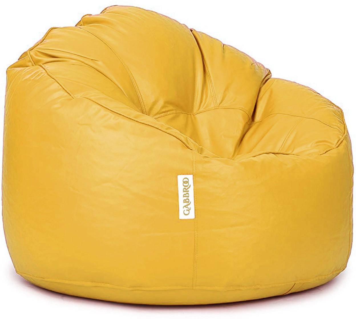 View Gabbroo XL Lounger Bean Bag Cover(Yellow) Furniture