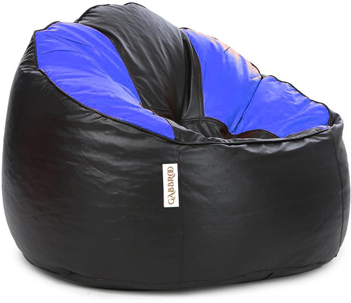 View Gabbroo XXXL Lounger Bean Bag Cover(Black, Blue) Furniture