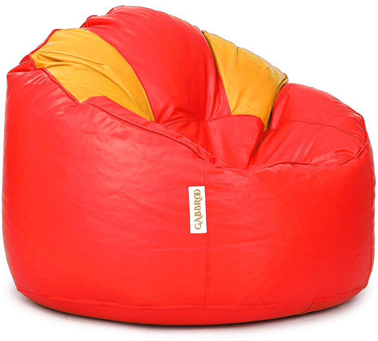 View Gabbroo XL Lounger Bean Bag Cover(Yellow, Red) Furniture