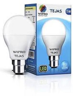 Wipro 7 W Round B22 LED Bulb(White)