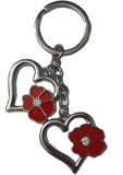 ATS Cute Heart Shape Key Chain With Red ...