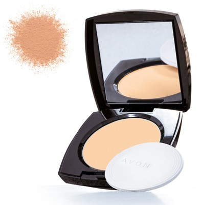 Avon Anew True Color Luminious Presses Powder Compact - 11 g(Deep Wheat)