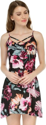 Cation Women's Sheath Black Dress at flipkart