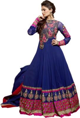 Saara Net Embroidered Semi-stitched Salwar Suit Dupatta Material at flipkart