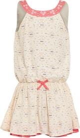 Miyo Girl's Midi/Knee Length Casual Dress(Pink, Sleeveless)
