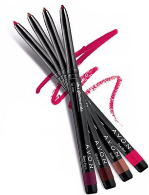Avon Anew True Color Glimmerstick Lip Liner (set of 4)(Deep Plum-True Red-Chocolate-Pink Cashmere)