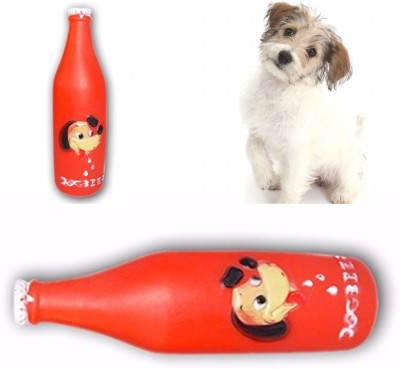 SRI High Quality Cute Beer Bottle Style Rubber Dogs/ Cats Squeaking Toys Rubber Squeaky Toy For Dog