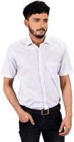 Zeal Formal Shirts (Men's) - Zeal Men's Printed Formal White, Grey Shirt
