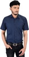 Zeal Formal Shirts (Men's) - Zeal Men's Printed Formal Dark Blue, Light Blue Shirt