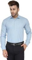 Enchanted Drapes Formal Shirts (Men's) - Enchanted Drapes Men's Checkered Formal Light Blue Shirt