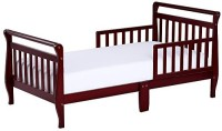 Dream On Me Sleigh Toddler Bed Standard Crib(High Density Fiberboard, Brown)