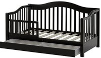Dream On Me Toddler Day Bed Standard Crib(High Density Fiberboard, Black)