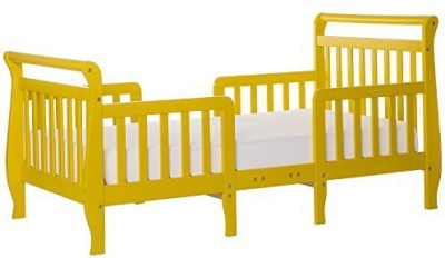 Dream On Me Emma 3 in 1 toddler bed Convertible Crib(High Density Fiberboard, Yellow)