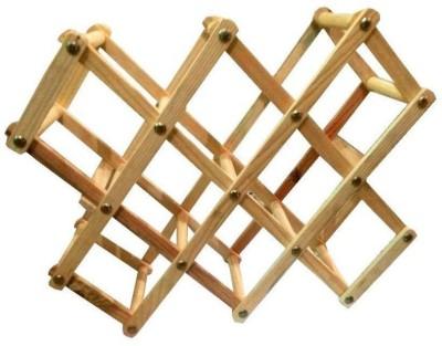 DLD Wooden Wine Rack(Beige, 8 Bottles)