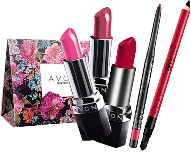 Avon Anew Combo Gift Set (3 Lipsticks + Lipliner + Kajal+Bag)(Set of 6)