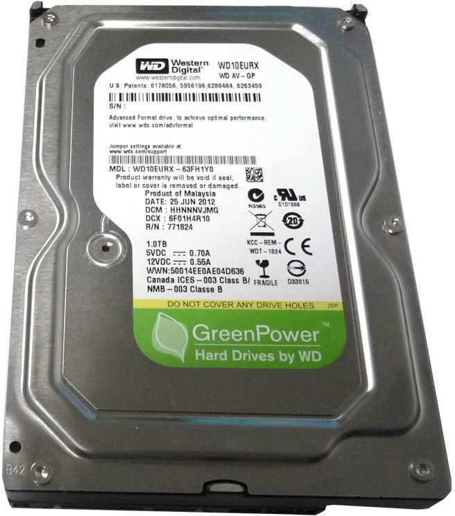 View WD WESTERN DISITAL 1000 GB Desktop Internal Hard Disk Drive (WD10EURX - 63FH1Y0) Price Online(WD)