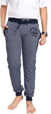 Grey Leaf Track Pant For Boys(Dark Blue Pack of 1)