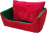 Poofy's Pet Island SRG4 XL Pet Bed (Red,...