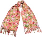 HVE Floral Print COTTON Girls Scarf