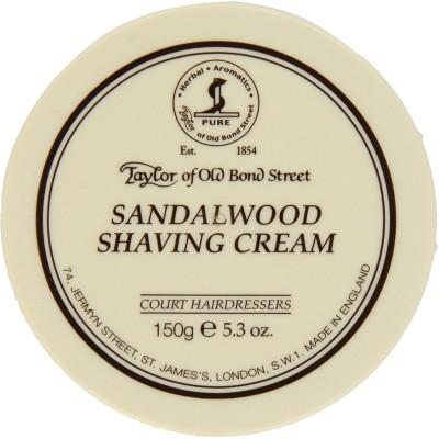 Taylor of Old Bond Street Sandalwood Shaving Cream Bowl, 5.3-Ounce(150 g)