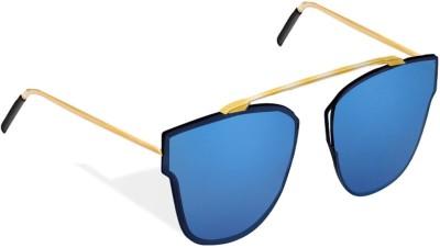 Hupshy WFRBLGLD02 Wayfarer Sunglasses(Blue)