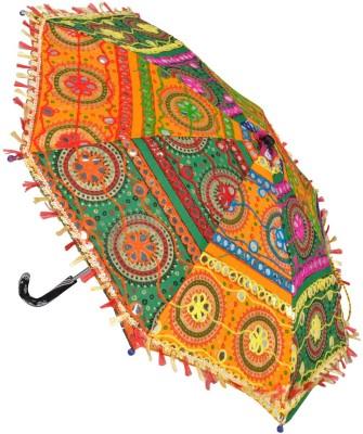 Lal Haveli Party Wedding Decoration Embroidery Design Women Sun Umbrella(Multicolor)
