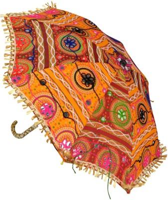 Lal Haveli Cotton Women Sun Umbrella(Multicolor)