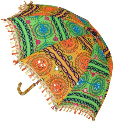 Lal Haveli Cotton Ladies Sun Umbrella(Multicolor)