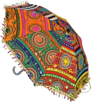 Lal Haveli Wedding Decoration Small Size Sun Sun Umbrella(Multicolor)