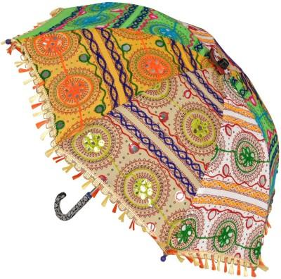 Lal Haveli Wedding Party Decoration Cotton Ladies Sun Umbrella(Multicolor)