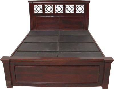 Induscraft Solid Wood King Bed(Finish Color - DARK NATURAL)