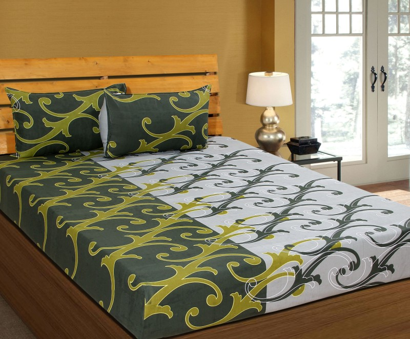 Zesture Cotton Abstract Double Bedsheet(1 Double Bedsheet with 2 Pillow...