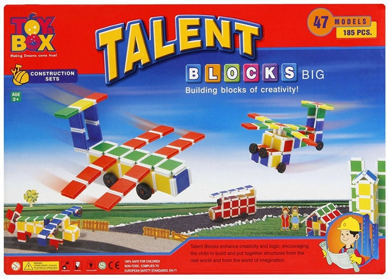 HALO NATION Toysbox Talent Blocks (Big) - Create Cars , Spaceships , Castles , Furniture & 50+ models(Red)