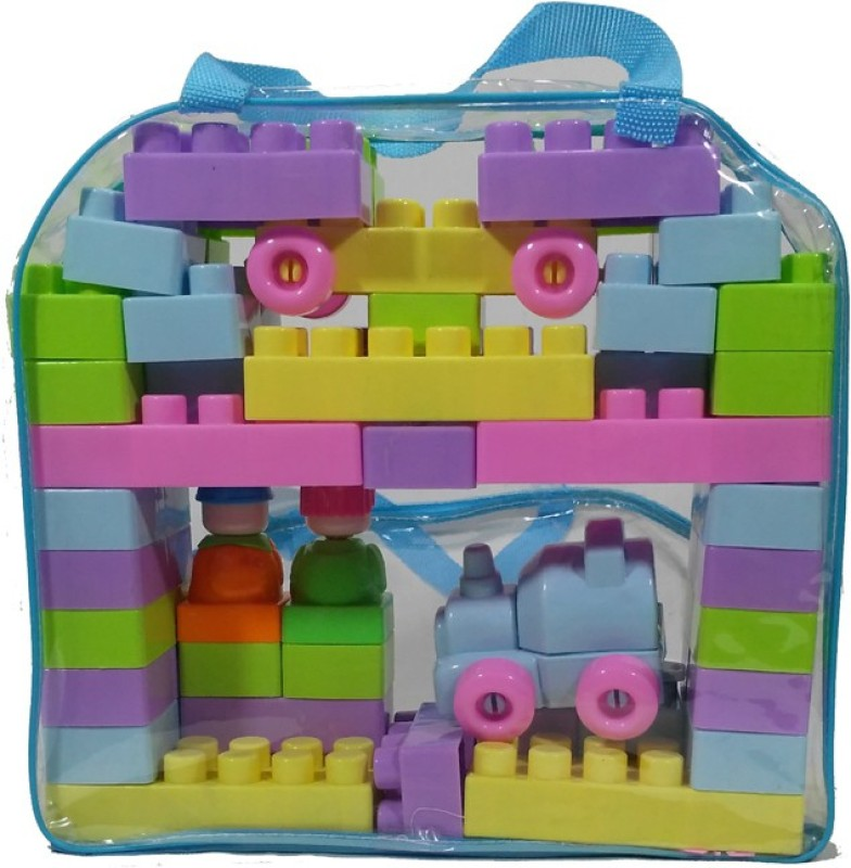 HALO NATION Blocks Play and Learn set - 54 pcs(Multicolor)