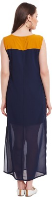 Zimaleto Women's Maxi Blue Dress at flipkart