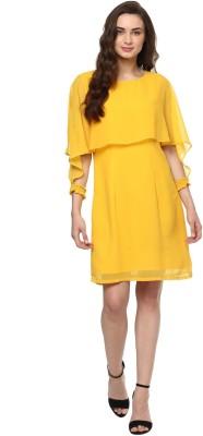 Zimaleto Women's Fit and Flare Yellow Dress at flipkart