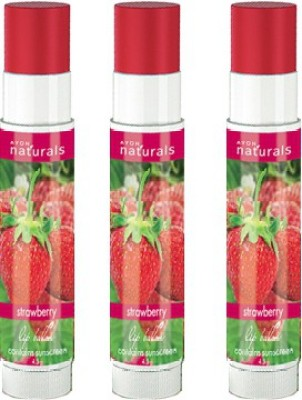 Avon Anew Naturals Strawberry Lip Balm (set of 3) Fruity(13.5 g)