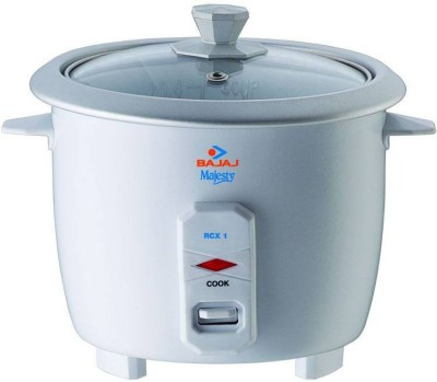 Bajaj RCX1 Electric Rice Cooker(0.4 L, White)