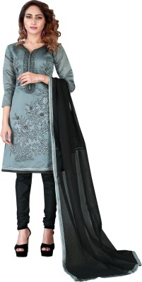 Shonaya Silk Embroidered Salwar Suit Dupatta Material(Un-stitched) at flipkart