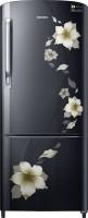 Samsung 230 L Direct Cool Single Door Refrigerator(RR24M274YB2/NL, Star Flower Black, 2017)