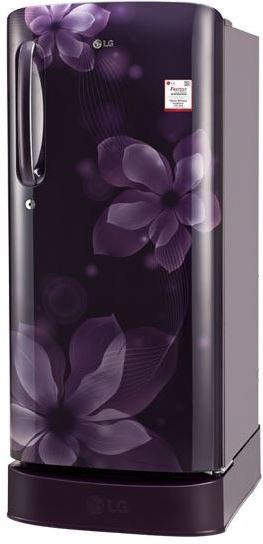 LG 190 L Direct Cool Single Door Refrigerator(GL-D201APOX, purple orchid, 2017) (LG)  Buy Online