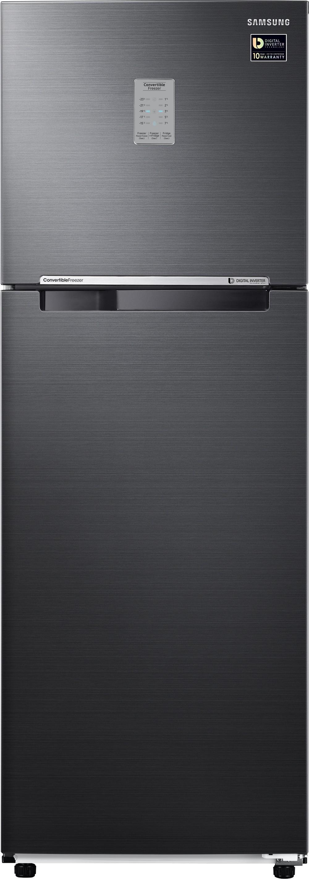 SAMSUNG 321 L Frost Free Double Door Refrigerator(RT34M3743BS/HL, Black Inox, 2017) (Samsung) Tamil Nadu Buy Online