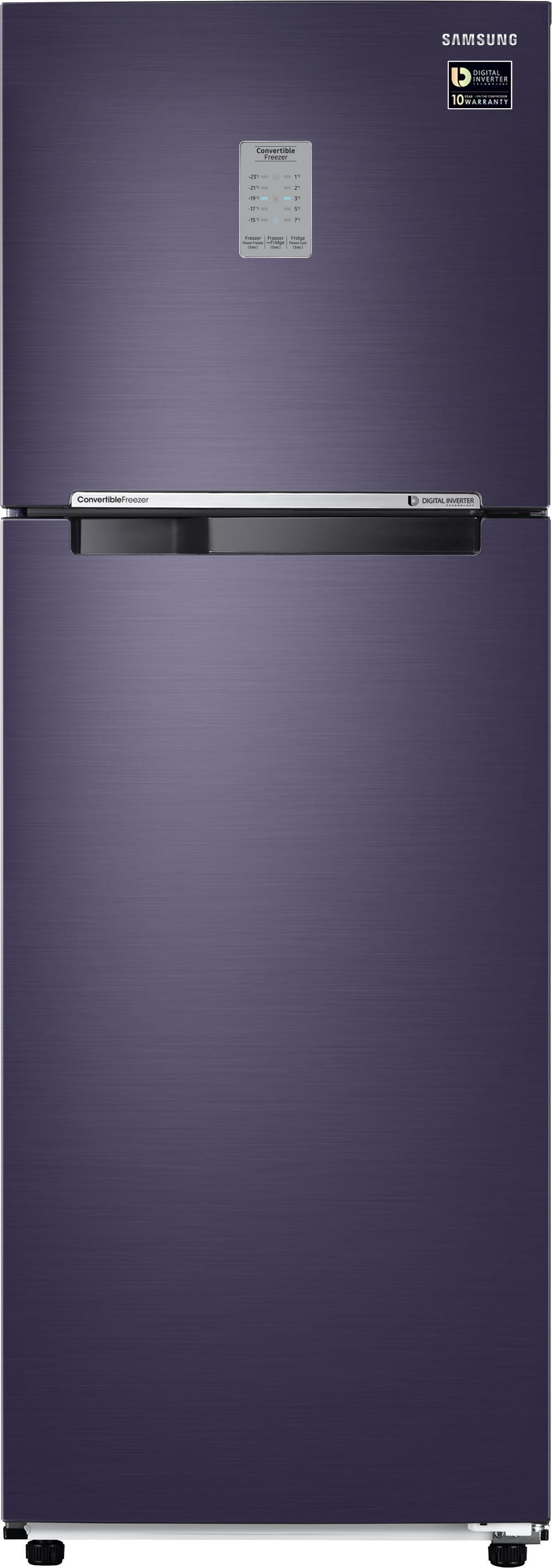 SAMSUNG 321 L Frost Free Double Door Refrigerator(RT34M3743UT/HL, Pebble Blue, 2017) (Samsung) Tamil Nadu Buy Online